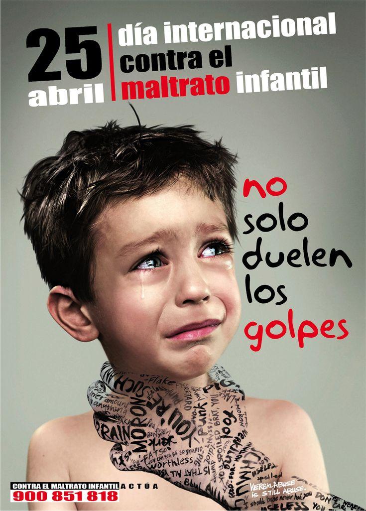 Cartel contra el maltrato infantil