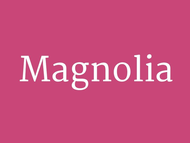 """Magnolia – from the collection """"Totally Amazing Hipster Baby Names"""""""