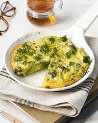 I made this Broccoli Frittata for dinner one night and it become breakfast for the next two days. Suggested tweaks: a pinch more crushed red pepper, toss in chicken and/or substitute the grated cheese for goat cheese or low fat cheddar mixed into the eggs.