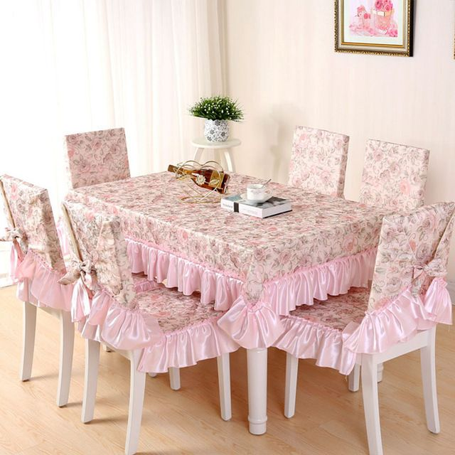 Fashion Floral Printed Tablecloth Dining Table Cloth Chair Cover Set Decorative Home Textile Toalha De Mesa YW030