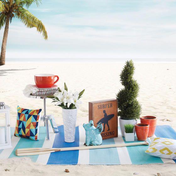 Miami Stripe Outdoor Rug - Blue