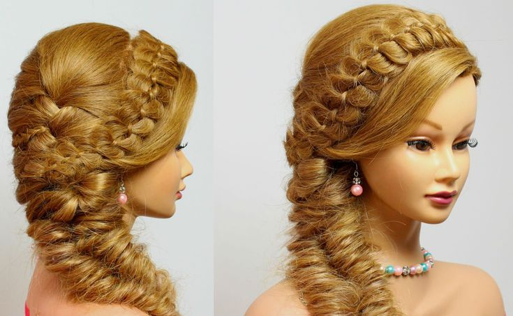 Hairstyles for long hair tutorial. 4 Strand with Fishtail Braid.