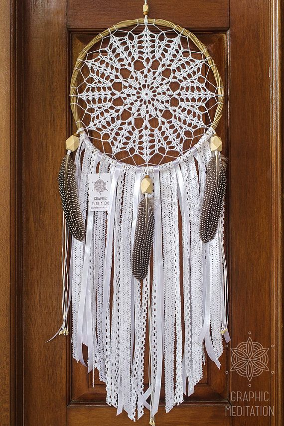 Large dream catcher wall hanging 11 Doily by GraphicMeditation
