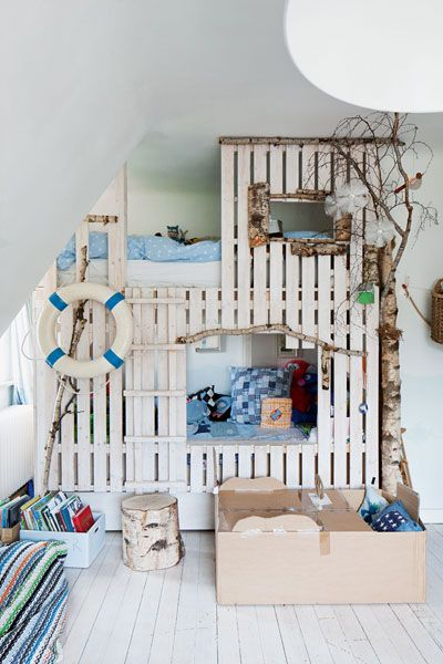 Fun nature-inspired bunk bed