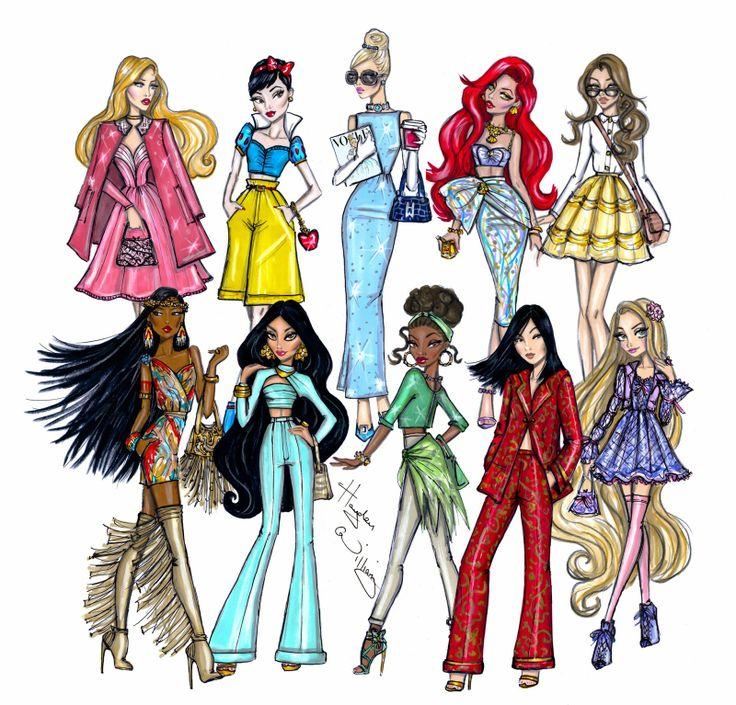 Hayden Williams Fashion Illustrations: Disney Diva Fashionistas collection by Hayden Williams