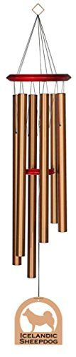 Chimes  Chimesofyourlife E6127 Wind Chime,  Icelandic Sheepdog/Bronze,  35-Inch Outdoor Space ** This is an Amazon Associate's Pin. Click the VISIT button for detailed description on the website.