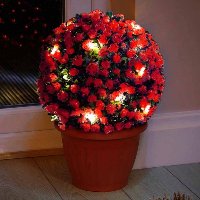 FLOWER TOPIARY BALL   Garden   Outdoor   Poundstretcher. 21 best images about Light Your Garden For Less on Pinterest