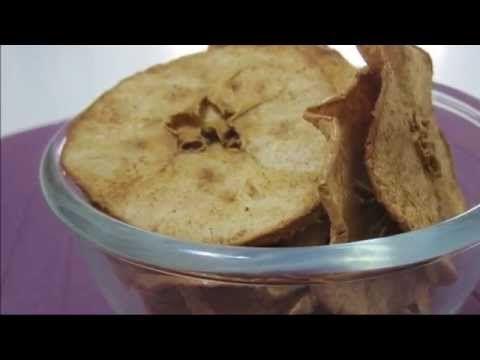 Crispy chips maçã assada com canela