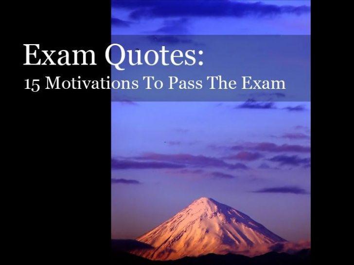 Exam Quotes: 15 Motivations To Pass Your Exam by I Pass The CPA Exam via slideshare
