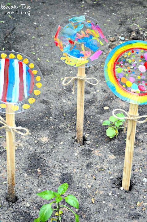 Painted flowers - kids craft
