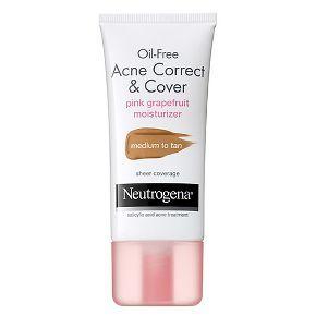 Neutrogena® Oil-Free Acne Correct & Cover Pink Grapefruit Moisturizer Medium to Tan- 1.7 Fl. Oz