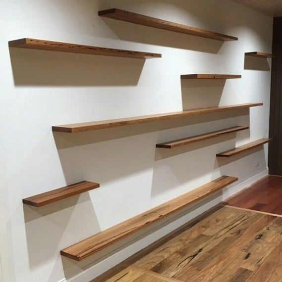 Elegant Floating Shelf From Natural Wood 5 75 Deep Easy To Install Display Wall Decor Storage Bookcase Wooden Shelf Shelving Floating Shelves Living Room Floating Shelves Diy Wall Decor Storage