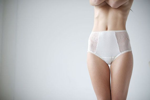 Lace knickers - Ivory