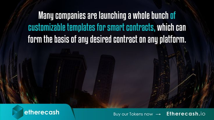 http://Etherecash.io. Many companies are launching a whole bunch of customizable templates for smart contracts, which can form the basis of any desired contract on any platform.  Purchase our Etherecash token through our ICO from October 25th 2017. Developed on the ERC20 blockchain technology with lawyer backed contracts, to make blockchain backed lending & fund management, private & seamless.  Buy our tokens now. Visit http://Etherecash.io.