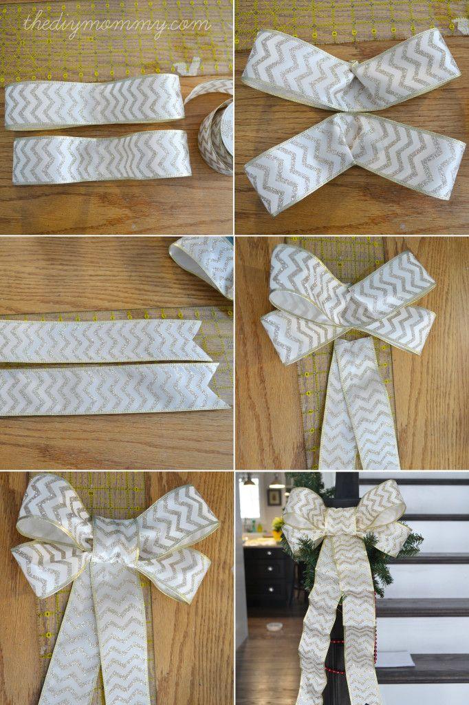 Make Diy Wired Ribbon Bows Christmas Bows Christmas