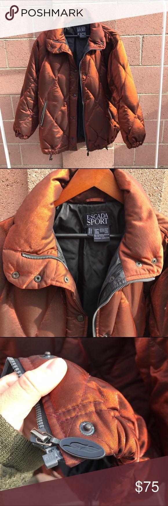 ESCADA SPORT SZ SMALL OVERSIZED PUFFER JACKET Super cute metallic style puffer jacket Escada Jackets & Coats