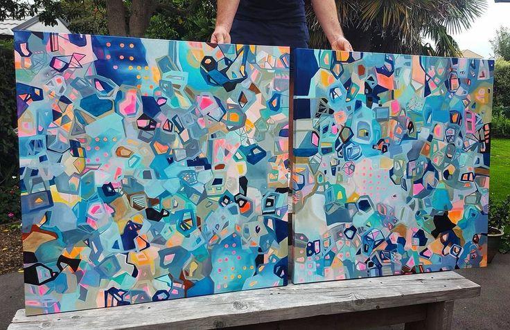 """774 Likes, 24 Comments - Alicia Beech (@aliciabeech.art.nz) on Instagram: """"Ta da. Newbies! . .  #abstractart #abstractpainting #abstract #painting #art #flaming_abstracts…"""""""
