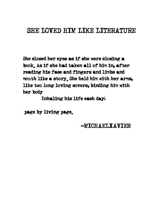 She Loved Him Like Literature