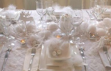 jolie décoration sur le thème de l'hiver