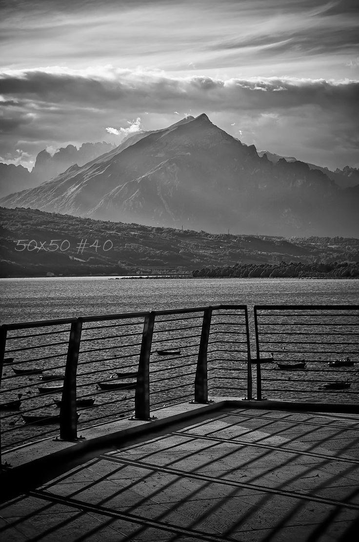 50×50 #40 Monte Serva dal lago di Santa Croce