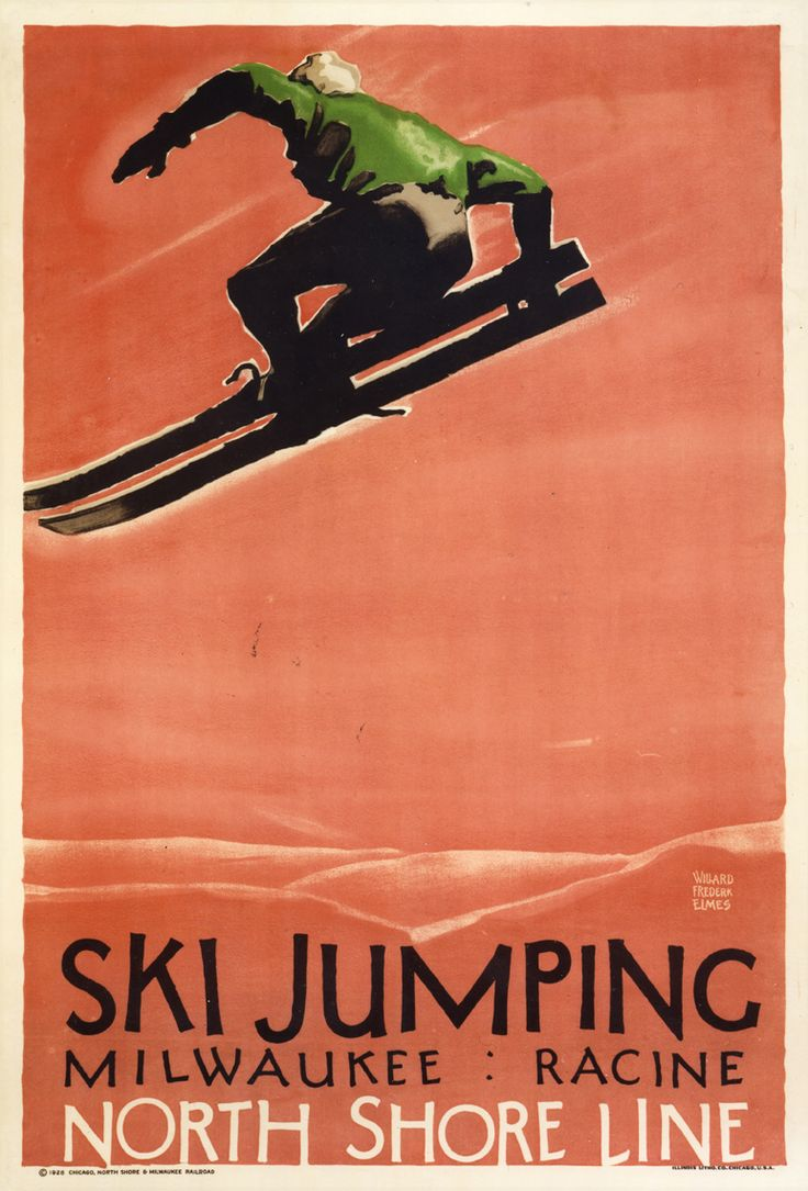 Poster design 1900 - Ski Poster From 1926 By Willard Frederic Elmes 1900 1956 Elmes Was A