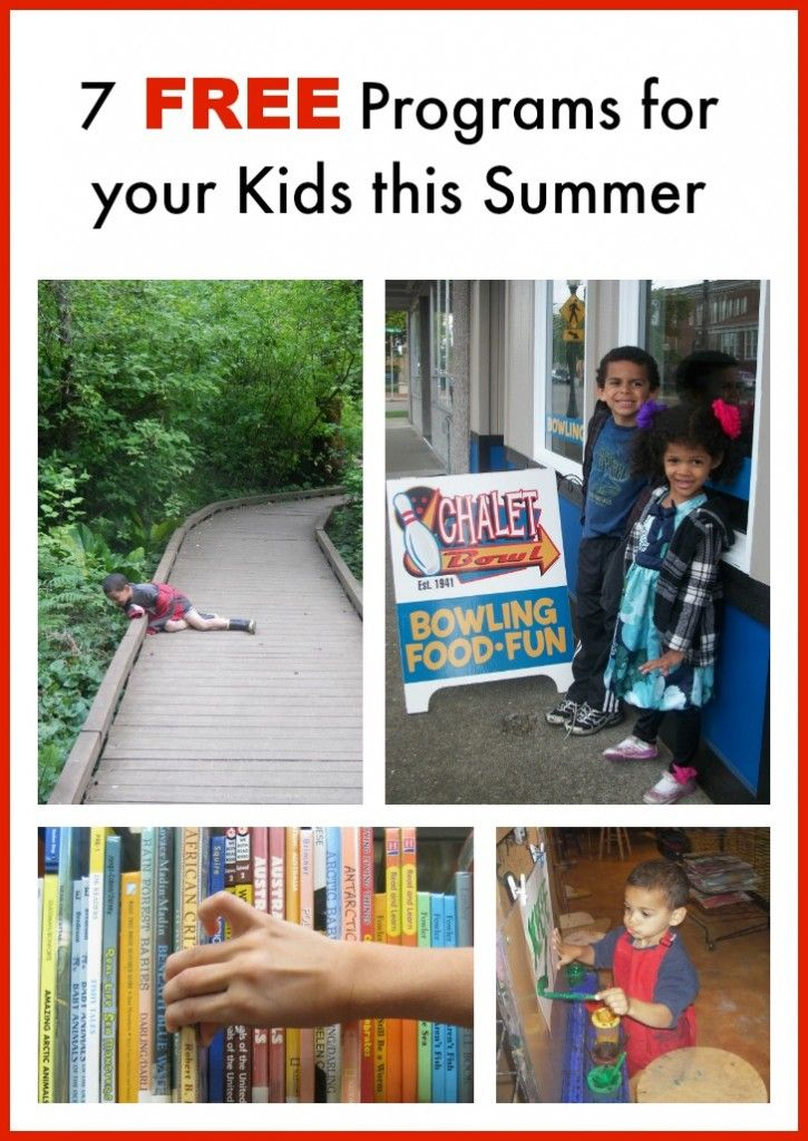 Seven Free Programs for your Kids this Summer