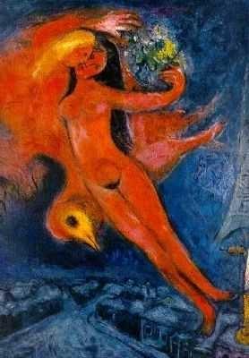 Nue rouge, par Marc Chagall