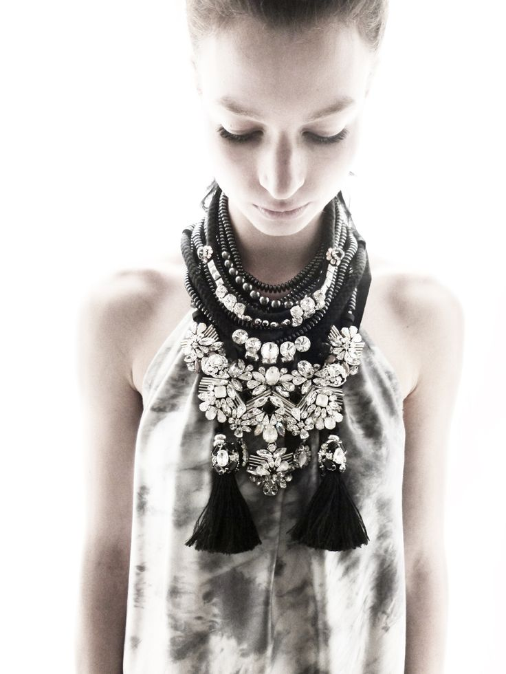 Stacy Likes this layered jewelry look! Rienne Creations statement jewelry Zavora Collection 2013