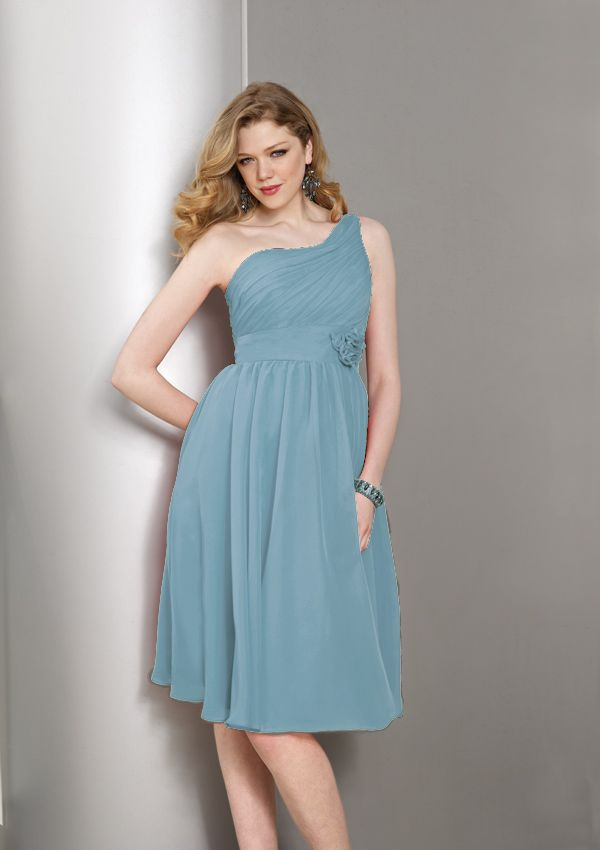 short bridesmaids dress from Affairs by Mori Lee Style 854
