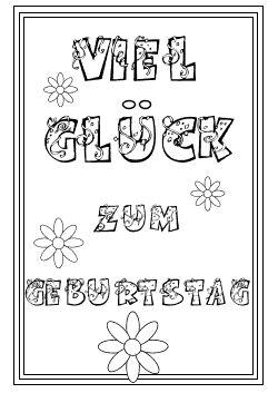 Ausmalbilder für Kinder | Kostenlos herunterladen und ausdrucken || http://www.kinder-malvorlagen.com/vorlagen-grusskarten/geburtstagskarten.php