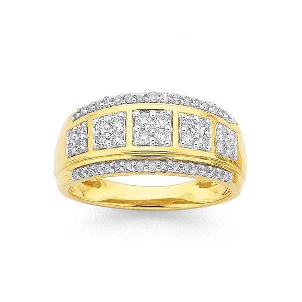 9ct Gold Diamond Ring TDW=.50ct