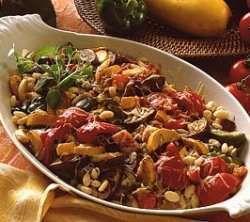 Bilde av Gratinerte bønner med grønnsaker.