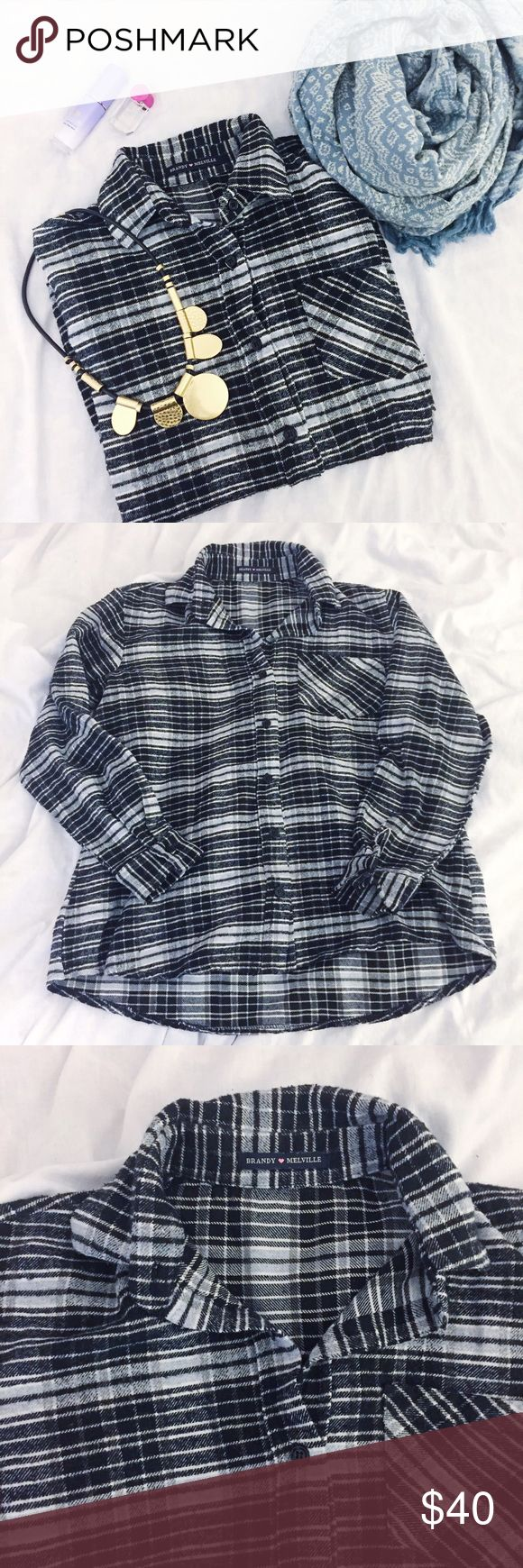 Brandy Melville Flannel Button Down ❤️Pre-loved ❤️good condition. Worn a few times. One size Brandy Melville Tops Button Down Shirts