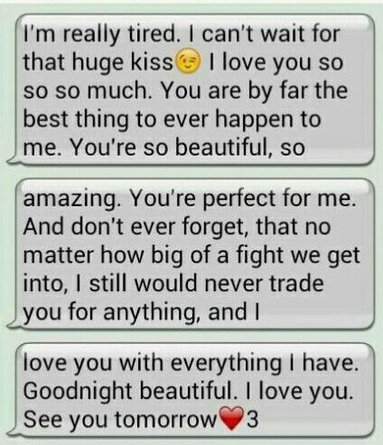 Long Cute Goodnight Texts For Him