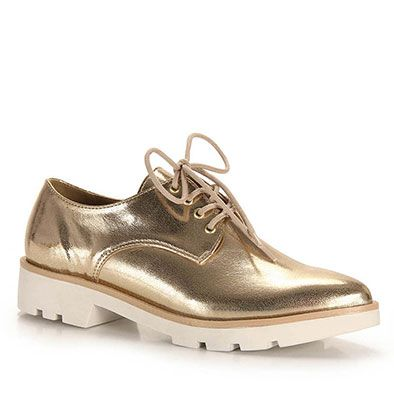 Sapato Oxford Feminino Brenda Lee - Dourado(A)                                                                                                                                                                                 Mais