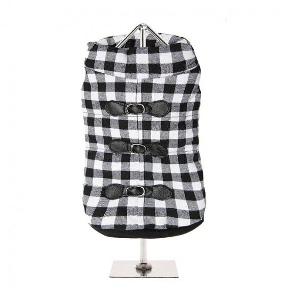 Two Tone Checked Dog Coat