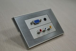 Modular wall plates available with a wide variety of AV inputs
