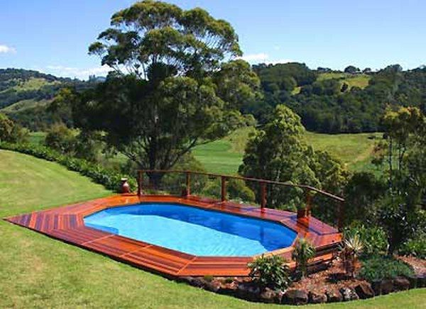 wooden deck ideas for above ground pools landscaping above ground swimming pools landscaping. Black Bedroom Furniture Sets. Home Design Ideas