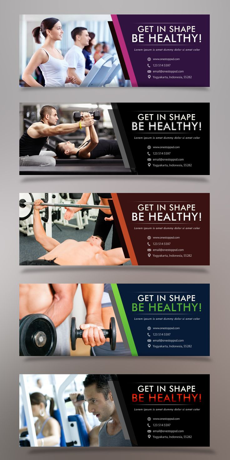 Free PSD Health & Fitness Facebook Cover Vol 1