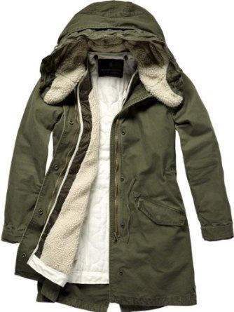 Maison Scotch Damen Jacke, 12240910885 - parka w/wired hd lining: Amazon.de: Bekleidung