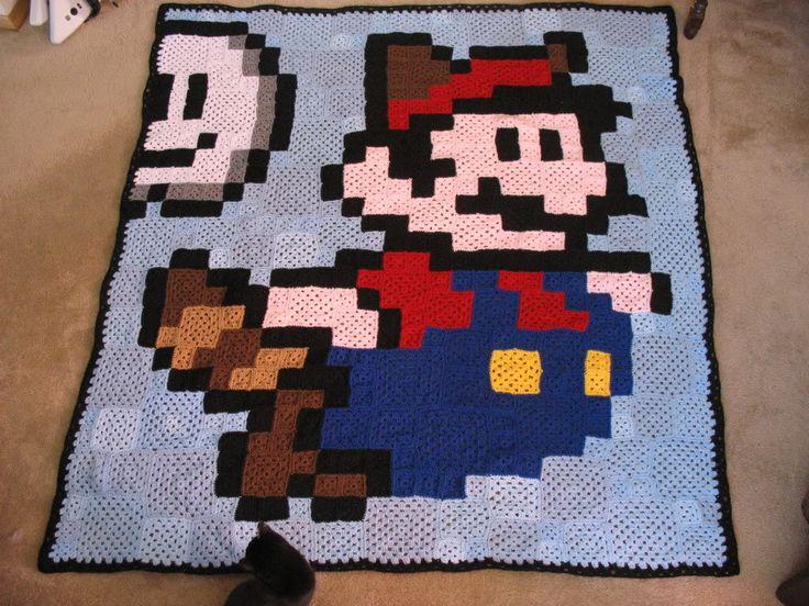 Crochet Pattern For Mario Blanket : 25+ best Mario Crochet ideas on Pinterest Crochet super ...