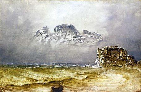 Peder Balke (Norwegian), Coastal Landscape, c. 1860-70.
