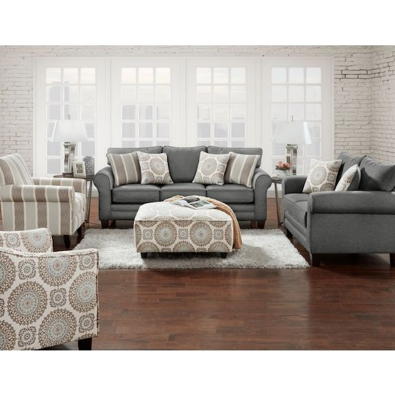 Tula Fabric Accent Chair Brianne Twilight The Brick Fabric Sofa Queen Size Sofa Bed Queen Size Sofa