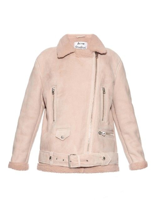 Acne Studios More Shearling long aviator jacket