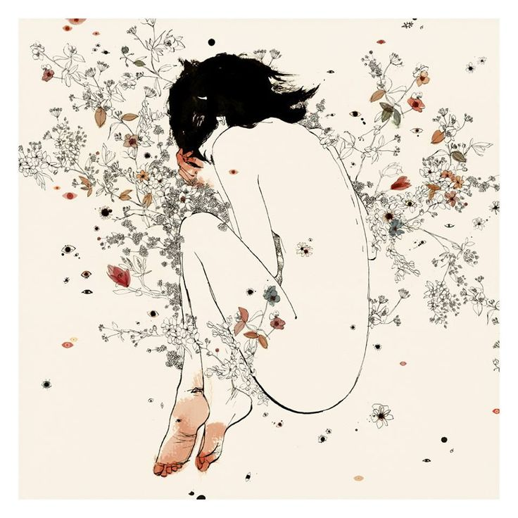 """This gorgeous print """"Cicuta"""" by conrad roset is currently available via The People's Printshop here http://store.thepeoplesprintshop.com/products/cicuta — with Nevena Indestructible Gvozden."""