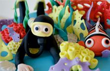 Scuba Diving Cake with Clown Fish