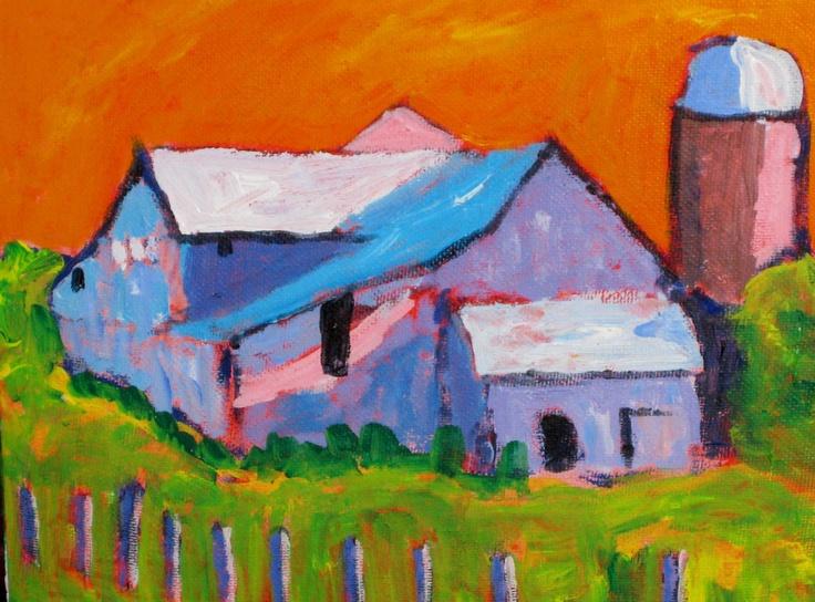 Fauve Barn. Original Painting by Ehren Snyder | eBay