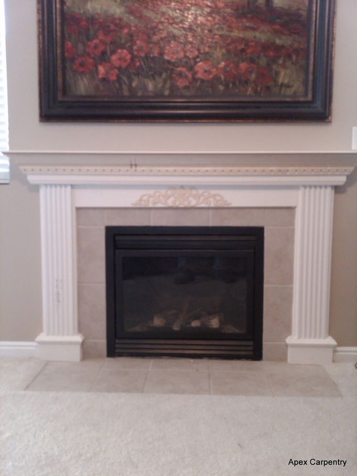 1000 ideas about gas fireplace mantel on pinterest gas fireplaces fireplace update and - Fireplace mantel piece ...