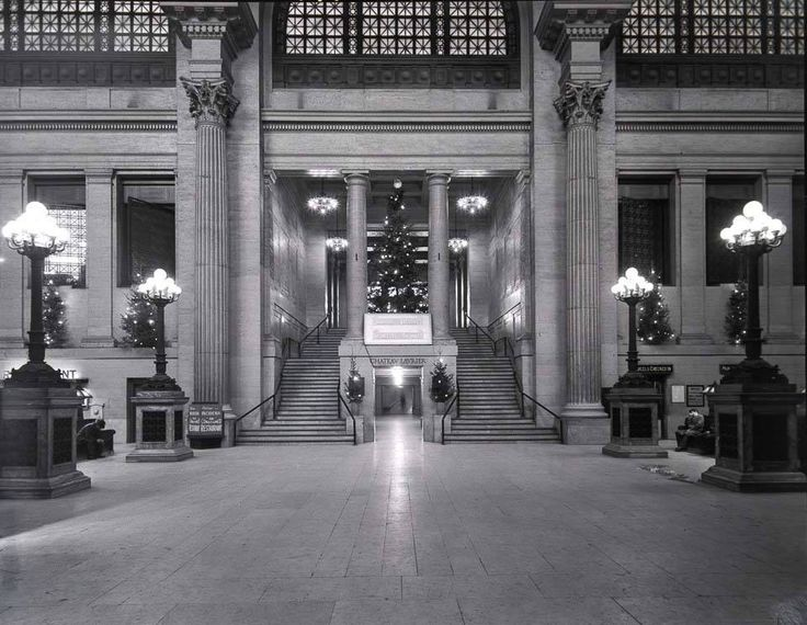 I think this is one great picture of our old Ottawa's Union Station from 1952. I'm not sure if this was the waiting area? You can see the stairs going up to Rideau St, and the tunnel that took you over to the Chateau Laurier.
