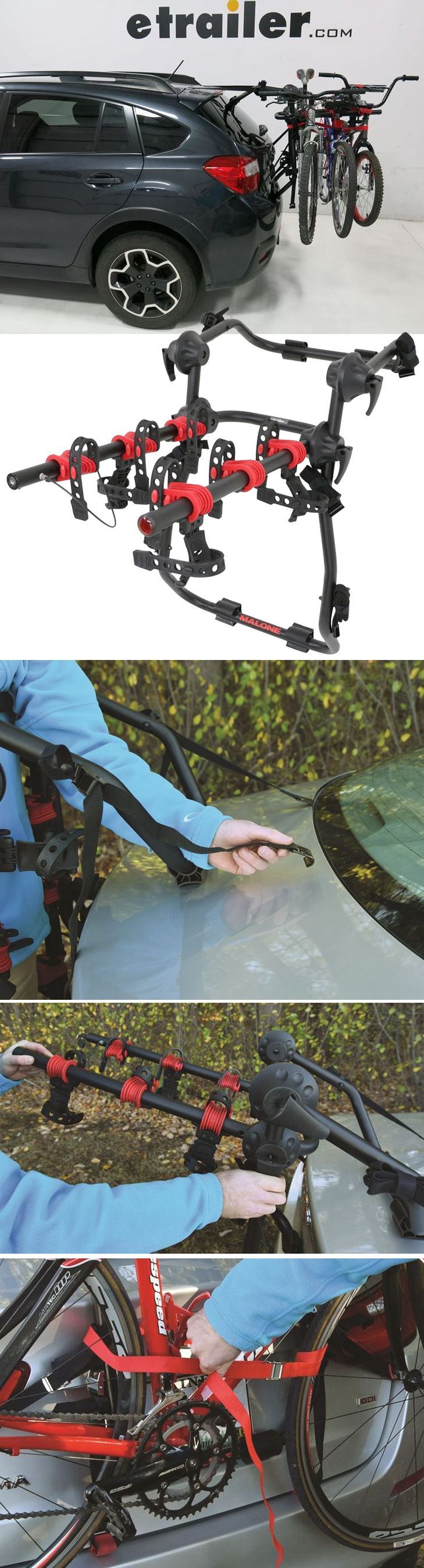 This Malone Hanger 3 Trunk Mount Bike Rack is a great option for your Subaru Outback Wagon. Its a fast and easy solution to carry your bikes from one place to another. It can carry a wide variety of bikes ranging from your mountain bikes to your alternate frame bikes to your kids bikes and to road bikes as well.